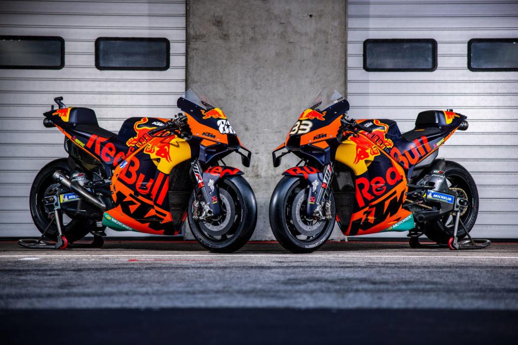 Das MotoGP Bike von Brad Binder und Miguel Oliveira