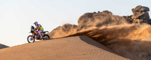 ein harter Tag für KTM auf der zweiten Etappe der Dakar 2021